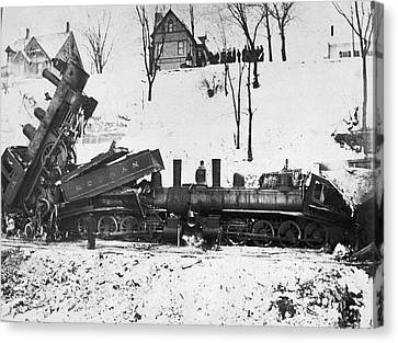 Head On Train Wreck Canvas Print by Underwood Archives