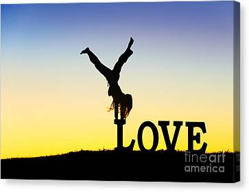 Head Over Heels In Love Canvas Print by Tim Gainey