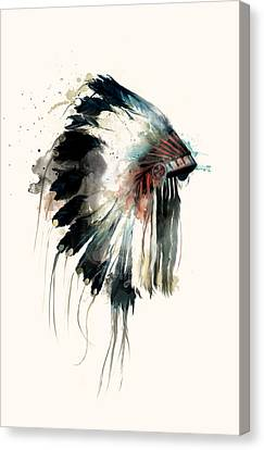 Headdress Canvas Print by Amy Hamilton