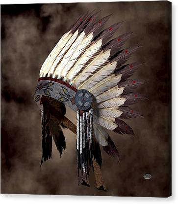 Headdress Canvas Print by Daniel Eskridge