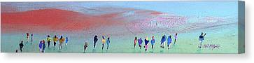 Heading For The Hills Canvas Print by Neil McBride