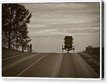 Heading Home In A Horse And Buggy Canvas Print by Priscilla Burgers
