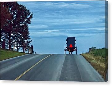 Heading Home Canvas Print by Priscilla Burgers