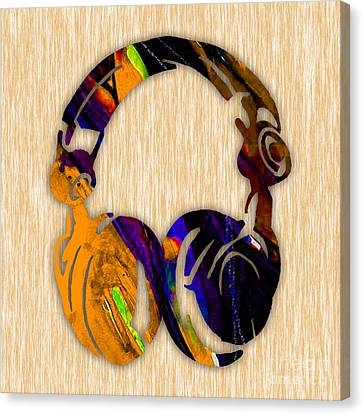 Headphones Painting Canvas Print by Marvin Blaine