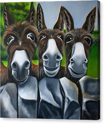 3 Amigos Canvas Print by Linda McKernan