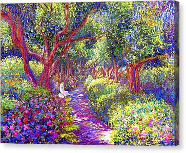 Healing Garden Canvas Print by Jane Small