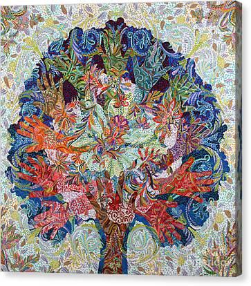 Healing Hands Canvas Print by Erika Pochybova