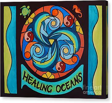 Healing Oceans Canvas Print by Janet McDonald