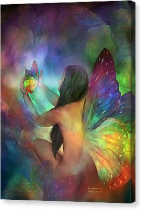 Healing Transformation Canvas Print by Carol Cavalaris