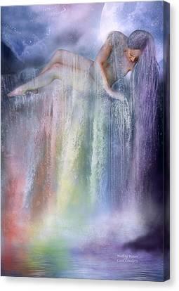 Healing Waters Canvas Print by Carol Cavalaris