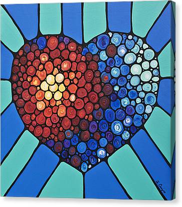 Heart Art - Love Conquers All 2  Canvas Print by Sharon Cummings