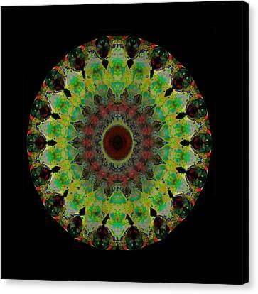 Heart Aura - Mandala Art By Sharon Cummings Canvas Print by Sharon Cummings