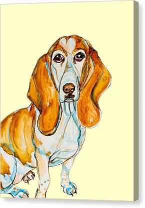 Heart Headed Basset Canvas Print by Kelly     ZumBerge