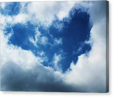 Heart In The Sky Canvas Print by Anna Villarreal Garbis