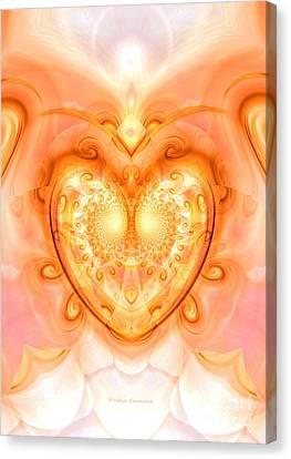 Heart Meditation Canvas Print by Indira Emmerlich