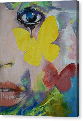 Heart Obscured By The Moon Canvas Print by Michael Creese