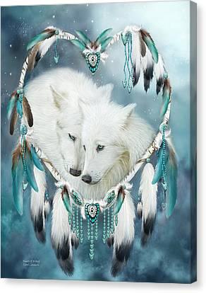 Heart Of A Wolf Canvas Print by Carol Cavalaris