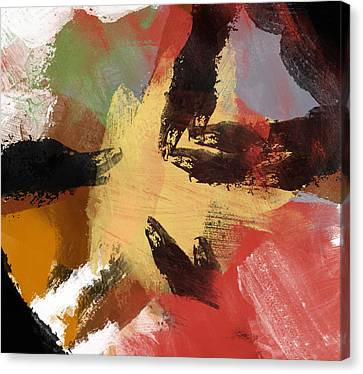 Heart Of Gold Canvas Print by Condor