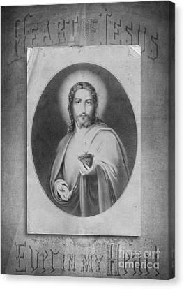Heart Of Jesus Canvas Print by Edward Fielding