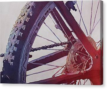 Heart Of The Bike Canvas Print by Jenny Armitage