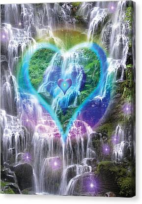 Heart Of Waterfalls Canvas Print by Alixandra Mullins