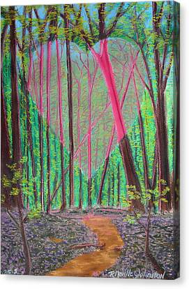 Heart Portal In The Woods Canvas Print by R Neville Johnston