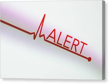 Heartbeat Alert Canvas Print by Daniel Sambraus