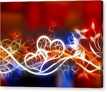 Hearts Canvas Print by Ann Croon