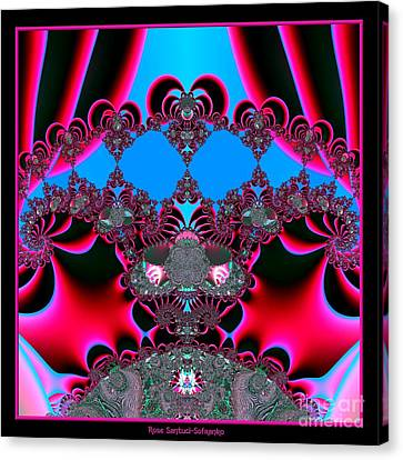 Hearts Ballet Curtain Call Fractal 121 Canvas Print by Rose Santuci-Sofranko