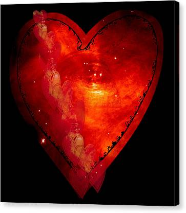 Hearts In Space I Canvas Print by Marianne Campolongo
