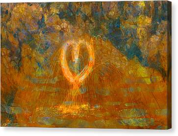Hearts On Fire Canvas Print by Dan Sproul