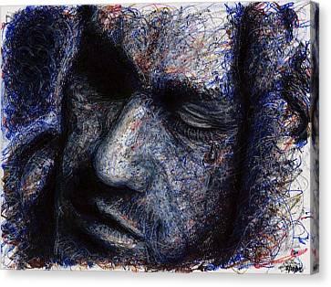 Heath Ledger - Blue Canvas Print by Rachel Scott