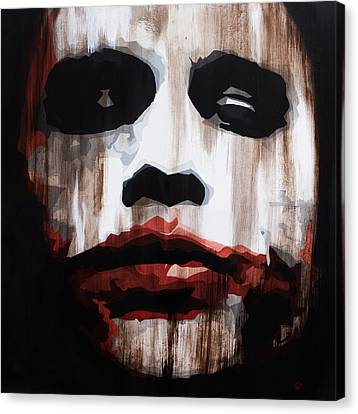 Heath Ledger Why So Serious Canvas Print by Brad Jensen
