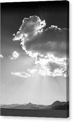 Heaven And Speed I - Bonneville Salt Flats Canvas Print by Holly Martin