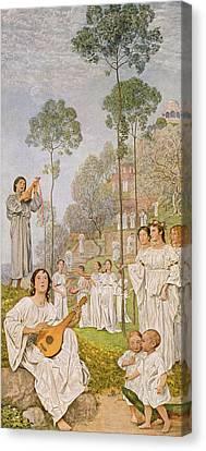 Heaven Canvas Print by Hans Thoma
