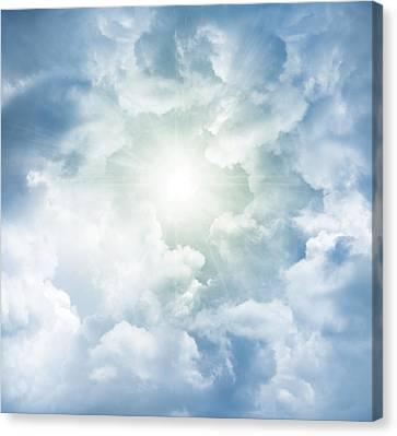 Heaven Light Canvas Print by Les Cunliffe