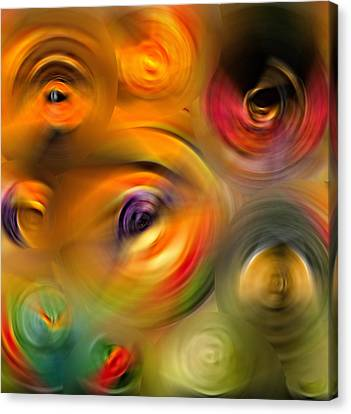 Heaven's Eyes - Abstract Art By Sharon Cummings Canvas Print by Sharon Cummings