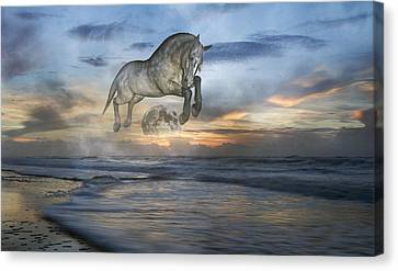 Heavens In The Sky Canvas Print by Betsy Knapp
