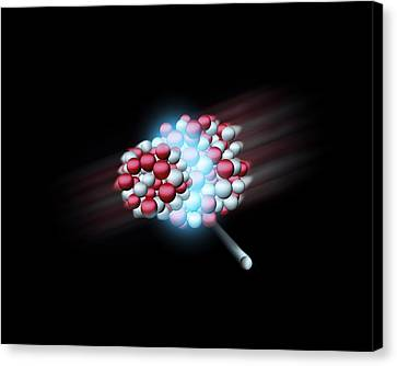 Heavy Atomic Nuclei Colliding, Artwork Canvas Print by Science Photo Library