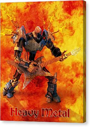 Heavy Metal Canvas Print by Frederico Borges