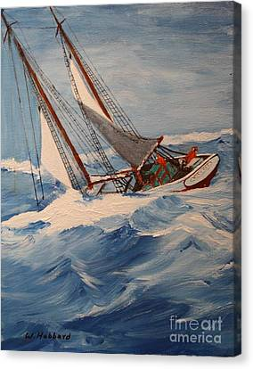 Heavy Weather Canvas Print by Bill Hubbard