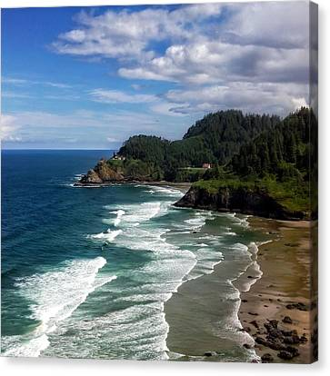 Heceta Head Canvas Print by Darren  White