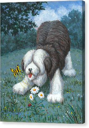 Hector Hassels A Butterfly Canvas Print by Richard De Wolfe