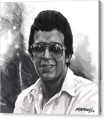 Hector Lavoe Canvas Print by Miguel Osorio