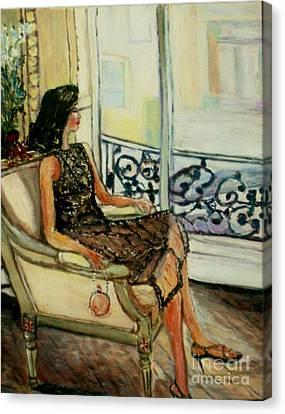 Heddy Canvas Print by Helena Bebirian