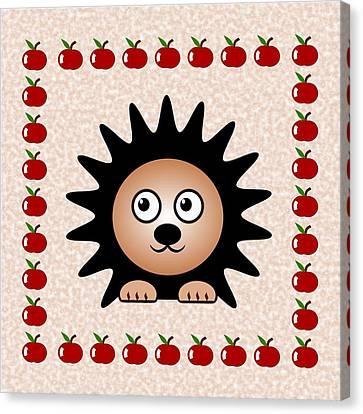 Hedgehog - Animals - Art For Kids Canvas Print by Anastasiya Malakhova