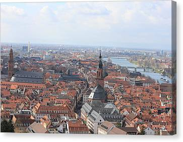 Heidelberg The City Canvas Print by Laura Watts