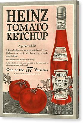 Heinz 1910s Usa Canvas Print by The Advertising Archives