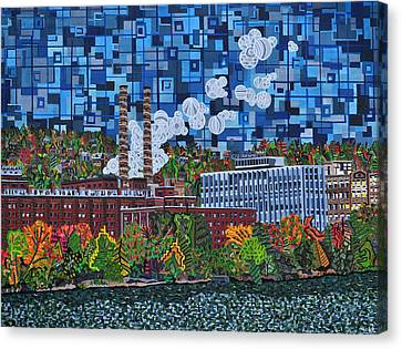 Heinz Factory - View From 16th Street Bridge Canvas Print by Micah Mullen