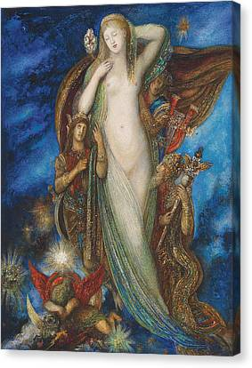 Helen Glorified Canvas Print by Gustave Moreau